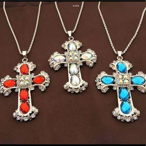 New Beautiful Cross pendant /Sterling Silver chain